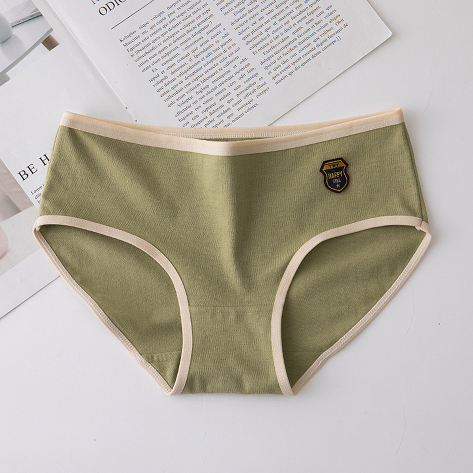 Women Sexy Fashion Solid Color Breathable Soft Stretch Underwear Panties