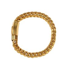 Franco Chain Bracelet Gold Color 316L Stainless Steel 8 inches Men Hip Hop Jewelry