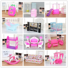 Mix lols Doll Plastic Furniture washing machine Cradle Bed sofa electric car Drinking fountain for doll Kellyes Accessories