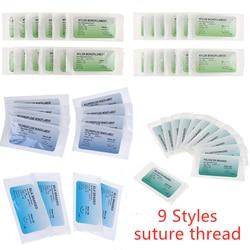 12 Pcs 75cm 2/0 3/0 4/0 Medical Needle Suture Nylon Monofilament Thread Suture Practice Kit Teaching Demonstrations Exercises