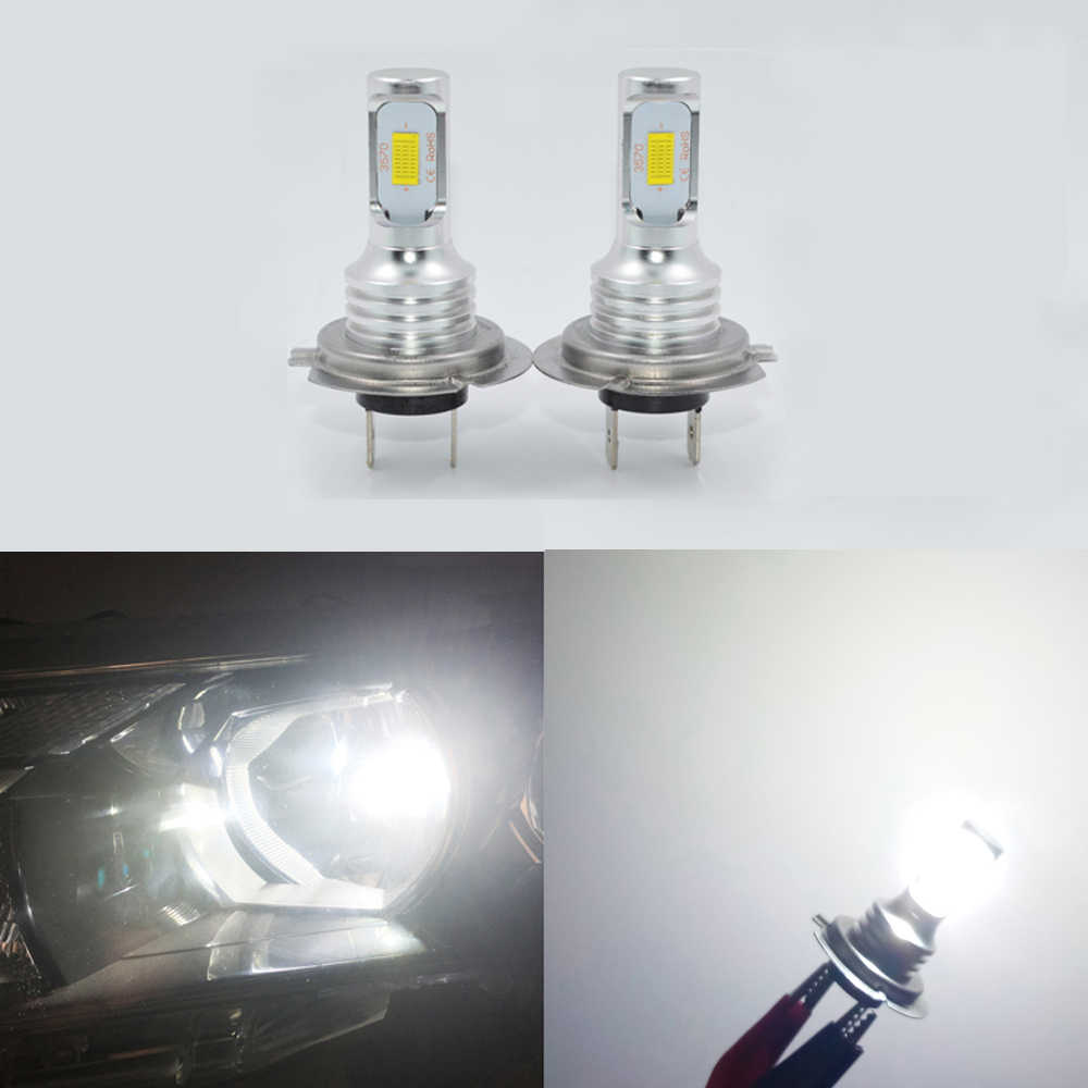 Auto H7 Led Lamp H4 H3 H1 H11 Led Front Lamp 9005 880 881 Ijs Lamp 6000K 12V auto Koplampen Auto Mistlamp Kit 2 Stuks