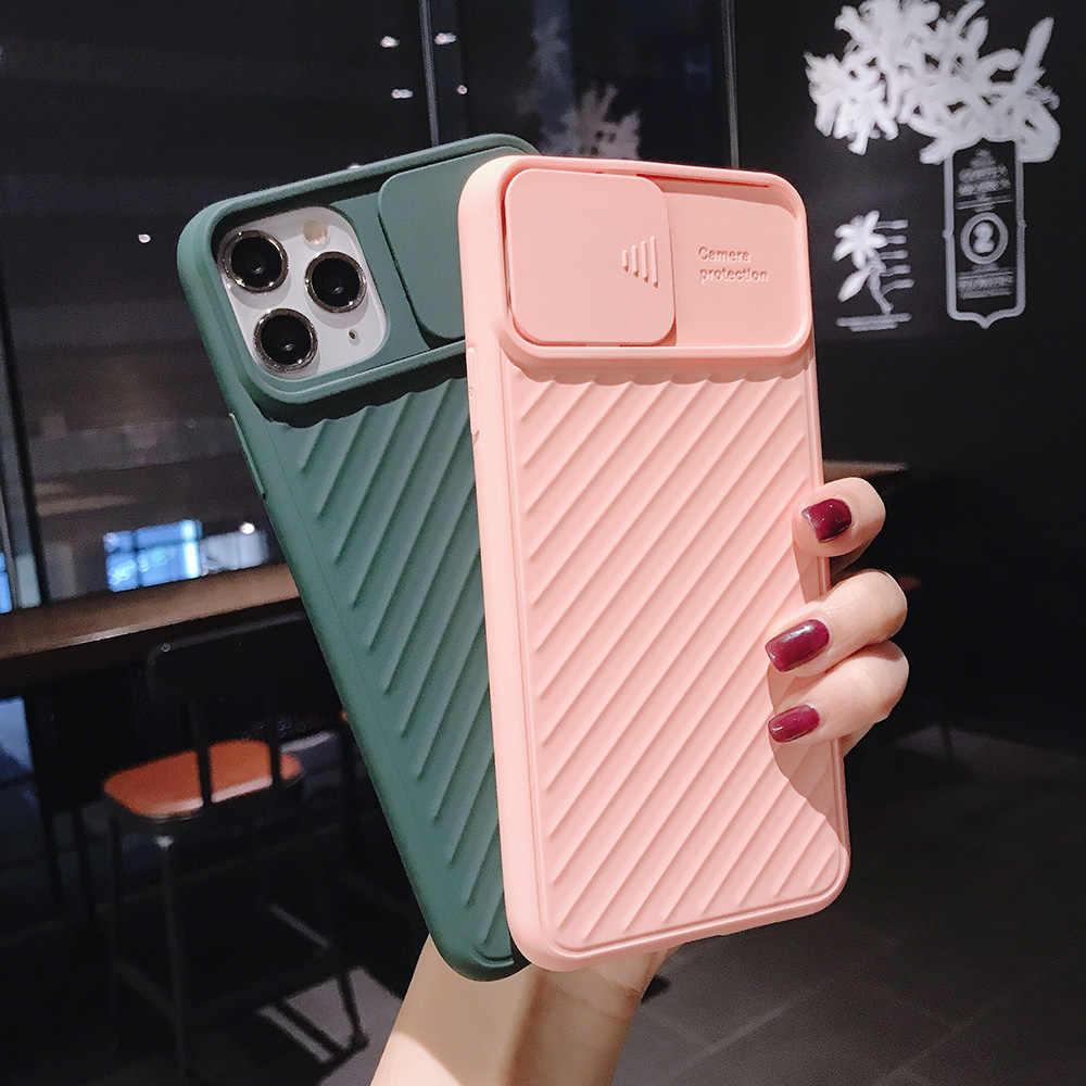 カメラ保護耐震電話ケースiphone 12 11Pro 11 × xr xs最大7 8 6sプラス固体色ソフトtpuシリコン裏表紙