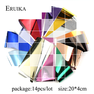 Image 4 - ERUIKA 14pcs Charm Foils for Nail Holographic Transfer Foil Wraps Sticker Decals Starry Paper Manicure Decor Set Nail Art Tips