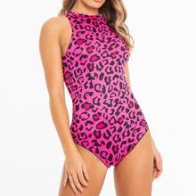 Sexy Women Leopard Bodysuit Fashion Sleeveless Comfort Fluorescent Color O-Neck Tight Romper Bodis de Mujer 2019 New Hot Sale YE