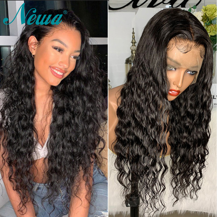 Lace Front Human Hair Wigs For Black Women Brazilian Human Lace Wigs Pre Plucked Natural Wave Human Hair Wigs Newa Hair Wigs