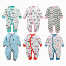 3-18M Baby Rompers Winter Warm Fleece Clothing Set for Boys Cartoon Animal Infant Girls Clothes Newborn Overalls Jumpsuit