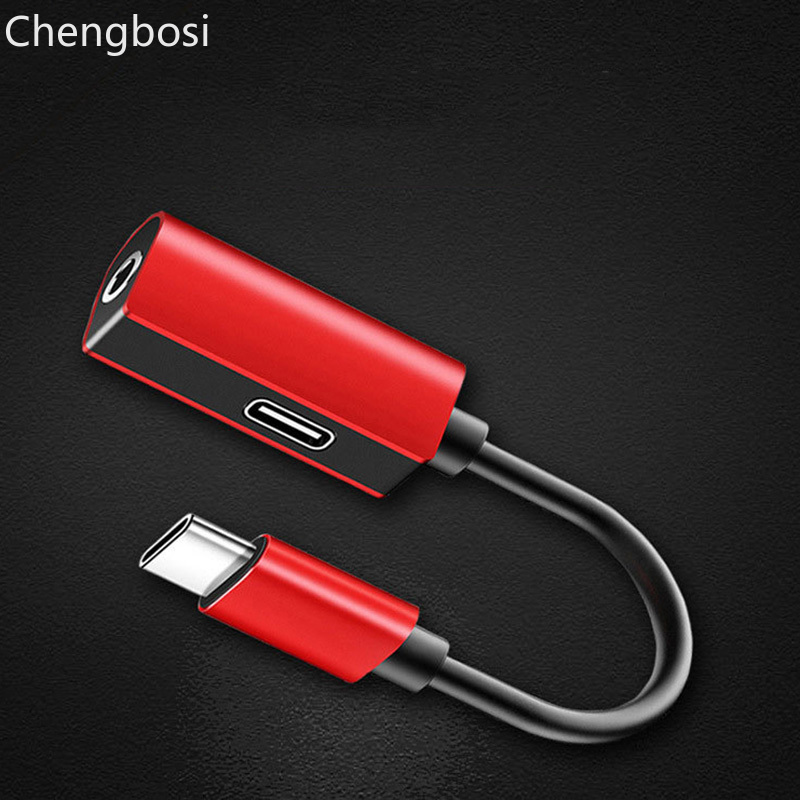 Usb Adapter 2 In 1 Type C To 3.5mm Audio Jack Charger Adapter Headphone Cable For Samsung S9 Usb Micro Cable Prolunga Usb