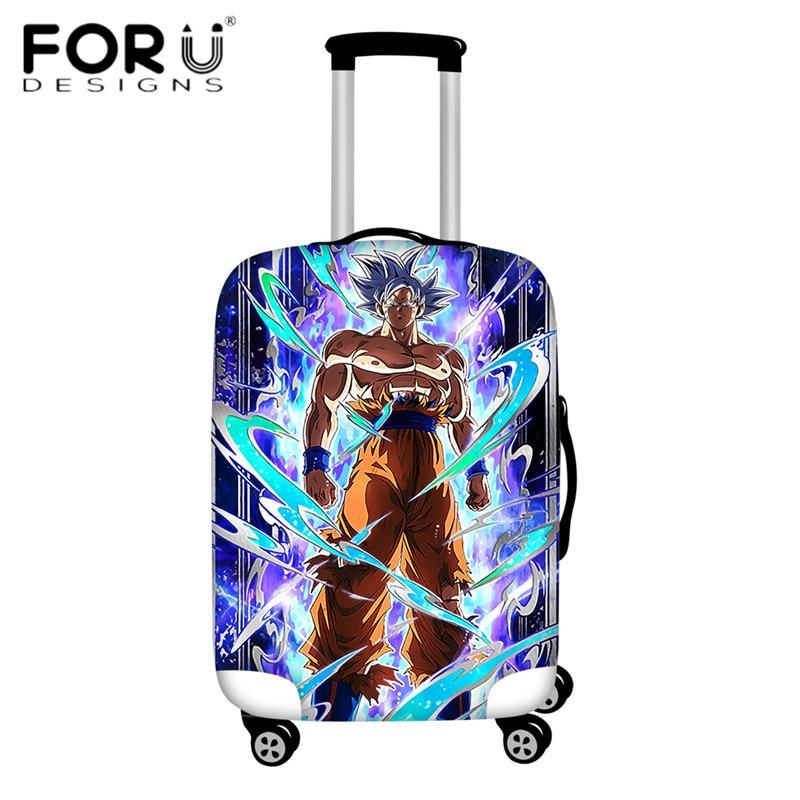 FORUDESIGNS/Дорожный эластичный Чехол для багажа Saiyan Goku Vegeta, защитный чехол для чемодана 18-32 дюймов - Цвет: HMA154