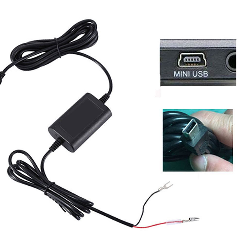 Dash <font><b>Cam</b></font> Mini <font><b>USB</b></font> Accessories Universal With 3 Fuse GPS Buck Line Power Adapter <font><b>DVR</b></font> Hard Wire Kit Safe Low Voltage Protection image
