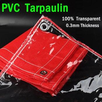 Niestandardowe 100 przezroczyste plandeki pcv plandeka namiotowa okna wiatroszczelne wodoodporne tkaniny schronienie jasne przeciwdeszczowe ogród Tarp żagle tanie i dobre opinie CN (pochodzenie) Odcień żagle obudowa nets NNW-0 3MMPVCTMFYBRB Powlekane PCV PVC Transparent Tarpaulin Rainproof Cloth
