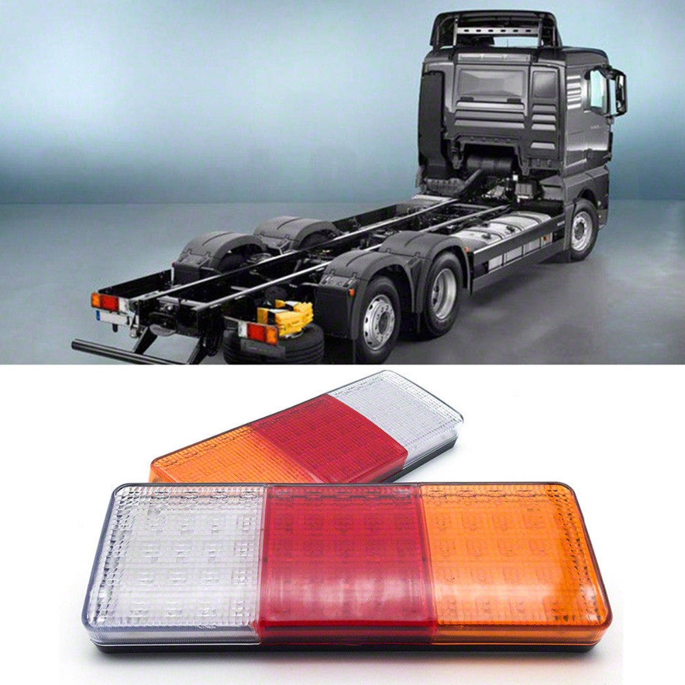 2pcs 75 LED Tail Light Ute Trailer Caravan Truck Boat Stop Indicator Lights 12V Truck Tail Light Shock And Vibration Resistant image