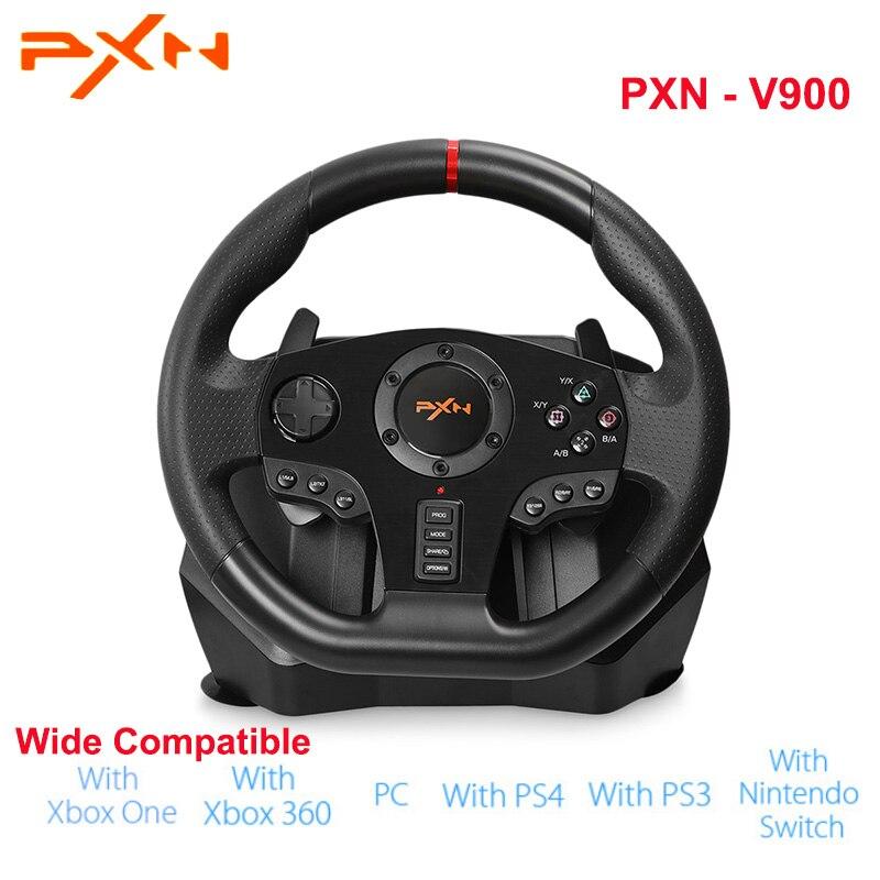 Original PXN PXN-V900 Gamepad controlador volante ordenador móvil de carreras de videojuegos vibración