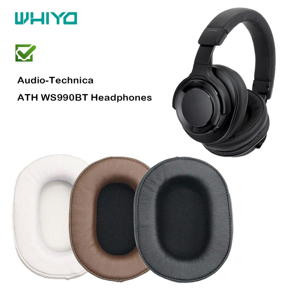 Whiyo 1 Pair Of Replacement EarPads For Audio-Technica  ATH WS990BT Headphones Sleeve Ear Pad Pillow Muff Cover Cups