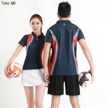 HOWE AO МУЖСКАЯ ТЕННИСНАЯ футболка, Спортивная футболка для бадминтона, быстросохнущая дышащая женская футболка для настольного тенниса, тренировочный топ
