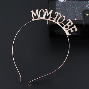 Image 1 - Rose Gold Silver Mom To Be Tiara Crown Headband for Baby Shower Boy Girl Gender Reveal Party Pregnancy Announcement Decorations