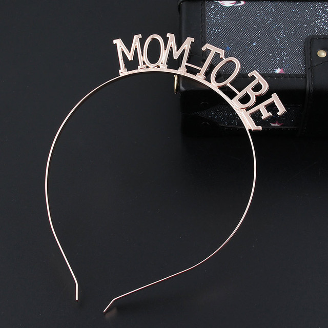 Rose Gold Silver Mom To Be Tiara Crown Headband for Baby Shower Boy Girl Gender Reveal Party Pregnancy Announcement Decorations