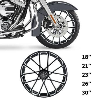 "Motorcycle 18"" 21"" 23"" 26"" 30"" inch Front Wheel Rim Hub Single Disc For Harley Touring 2008-2020 2019 2018 2009"