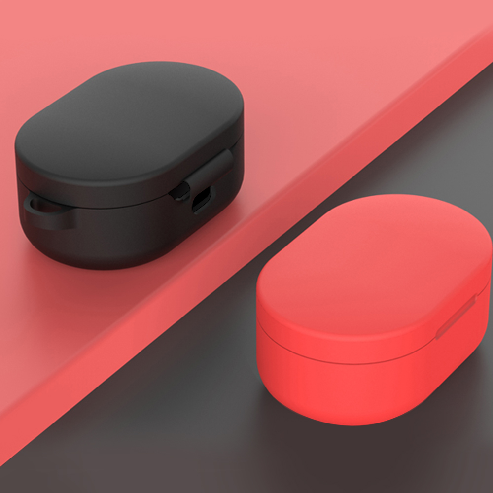 Image 2 - TPU Soft Case For Redmi Airdots Red mi Air dots Silicone Earphone Protective Cover Case Headset Charging Box Shell With Hook-in Earphone Accessories from Consumer Electronics