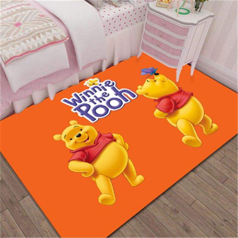 Cartoon 3D Winnie the Pooh Door Mat Kids Boys Girls Game Mat Bedroom Kitchen Carpet Indoor Bathroom Mat birthday present