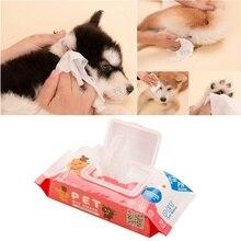 70 шт. влажные салфетки для глаз домашних животных специальные Очищающие Влажные Салфетки для собак кошек