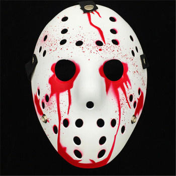 Pudcoco Mask Friday The 13th Halloween Myers Jason VS Freddy Costume Prop Horror Hockey Mask mascara halloween Cosplay Costume image