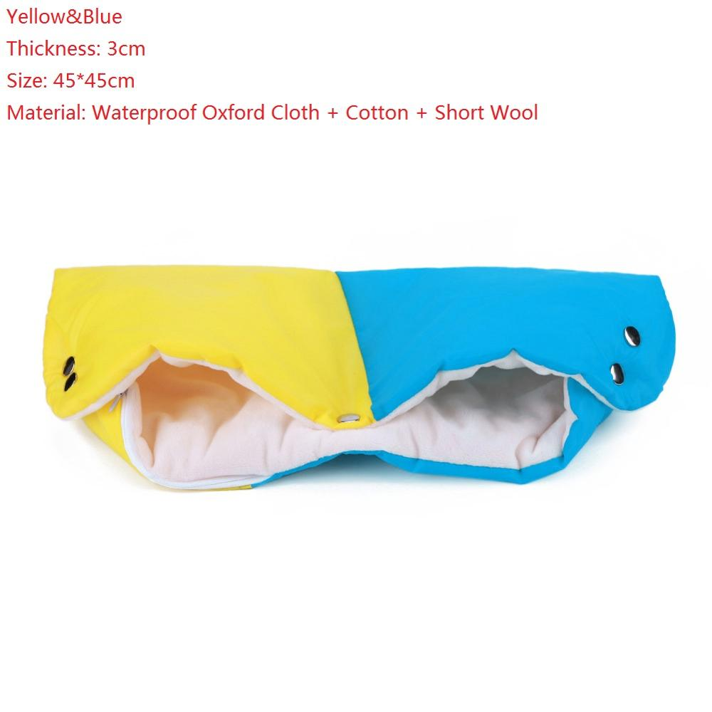 Warme/зимние варежки на коляску, ветрозащитные перчатки для новорожденных, непромокаемые флисовые Детские коляски, аксессуары - Цвет: B
