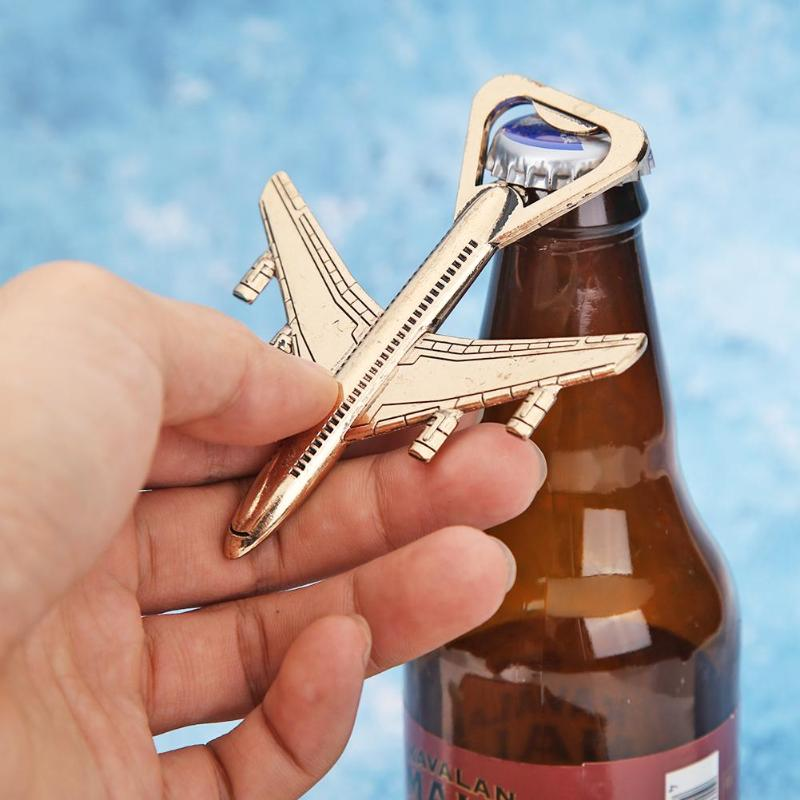 Creative Wedding Souvenirs Big Sized Gold Airplane Bottle Opener Gift Personalized Kitchen Tool Favors Guest Gifts