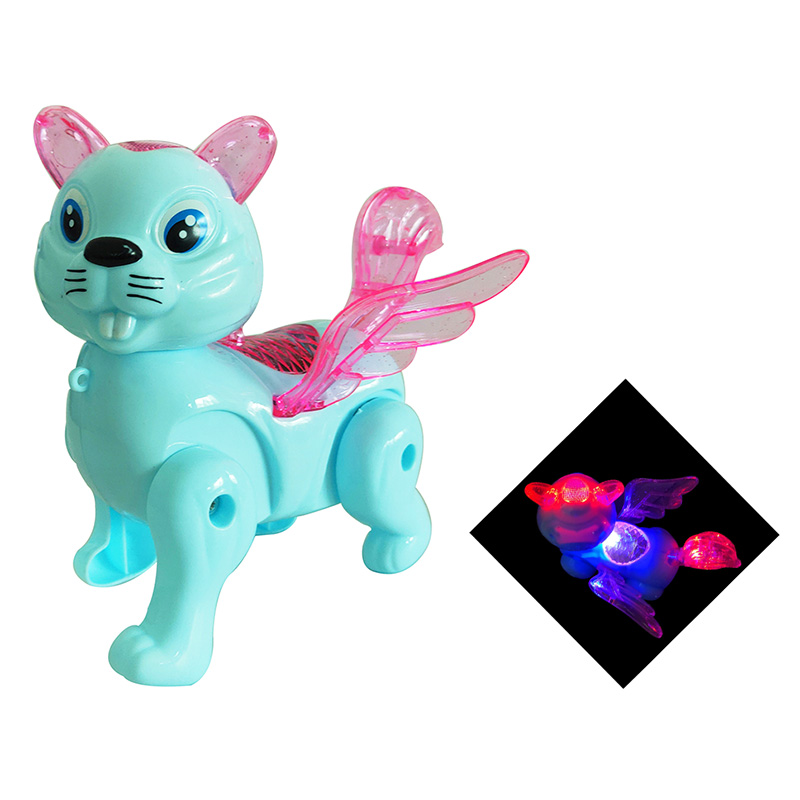 Hot Electric Music Walking Squirrel Toys LED Light Glow Electronic Pets Lantern Toy Children Kids Baby Girl Boy Educational Toys