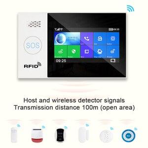 Image 5 - Awaywar Tuya WIFI GSM home Security smart Alarm System Burglar kit  touch screen compatible with Tuya IP Camrea
