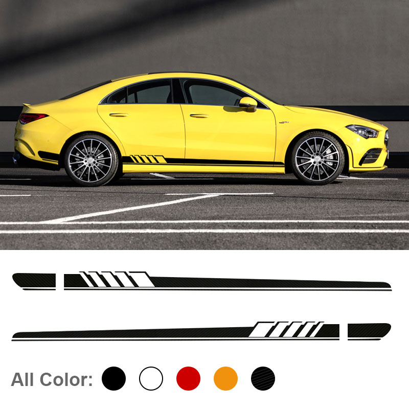Glossy and Matte DIY Car Striped Side Decal <font><b>Sticker</b></font> For W205 W203 W204 C180 <font><b>C200</b></font> C300 C63 C43 Decoration accessories image