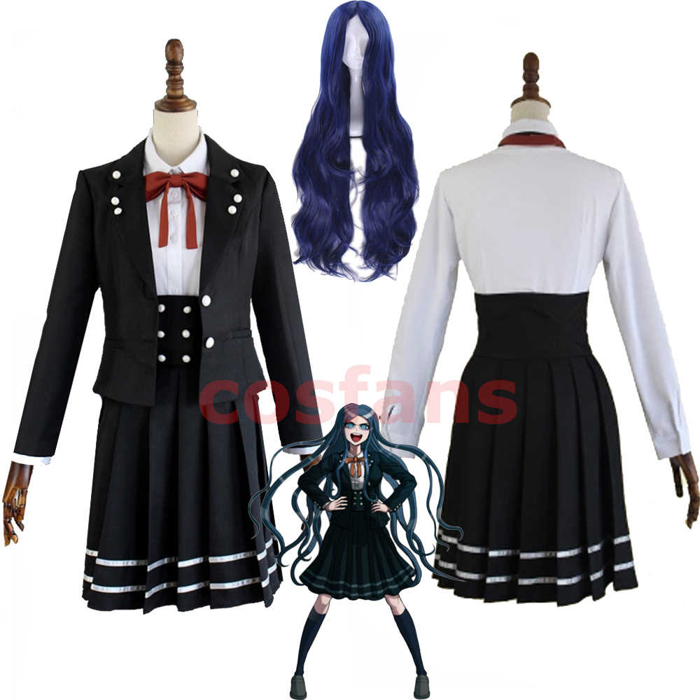 Anime Danganronpa V3 Shirogane Tsumugi édition originale JK uniforme Cosplay Costume femmes Halloween fête costumes avec perruque