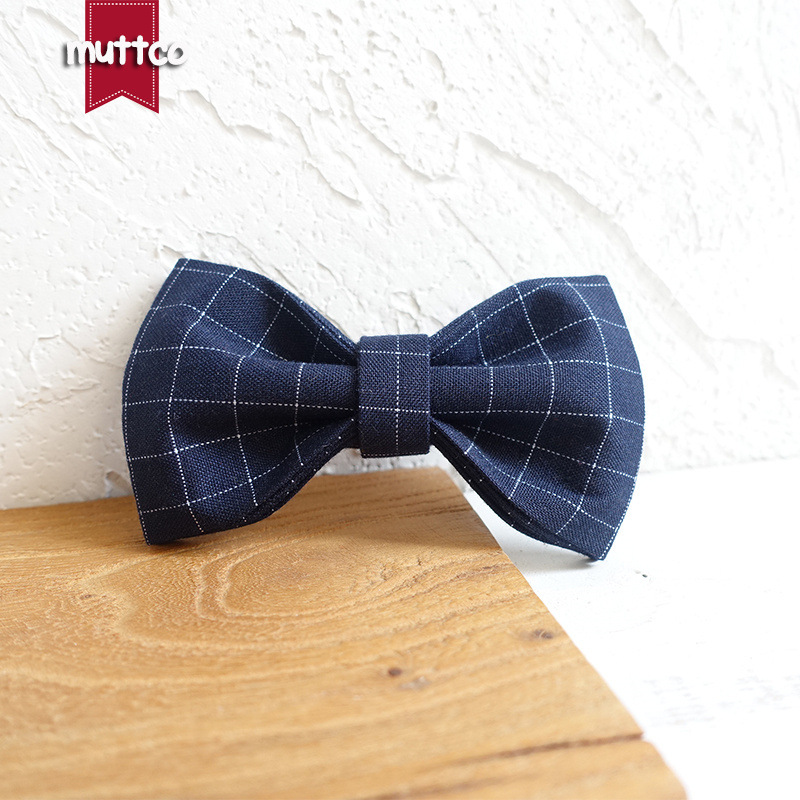 Muttco New Style Pet Bow Large And Small Quan Xiang Quan Dog Bandana Double Layer Bowtie Accessories Ubt-021