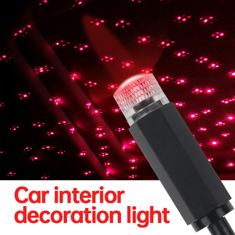 USB Star Night Light Car Ceiling Lights USB Romantic Atmosphere Decoration Gift Car Roof Lights For Car