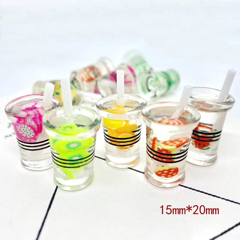6pcs//set Kitchen Drink Wine Juice Bottles 1:12 Dollhouse Miniature Furniture V0