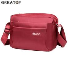 Повседневная мужская сумка мессенджер GREATOP, модные Наплечные сумки с несколькими карманами, 4 цвета, водонепроницаемая оксфордская сумка для деловых поездок, Y0026