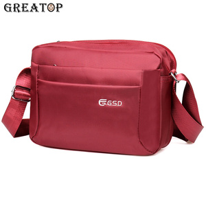 Image 1 - Повседневная мужская сумка мессенджер GREATOP, модные Наплечные сумки с несколькими карманами, 4 цвета, водонепроницаемая оксфордская сумка для деловых поездок, Y0026