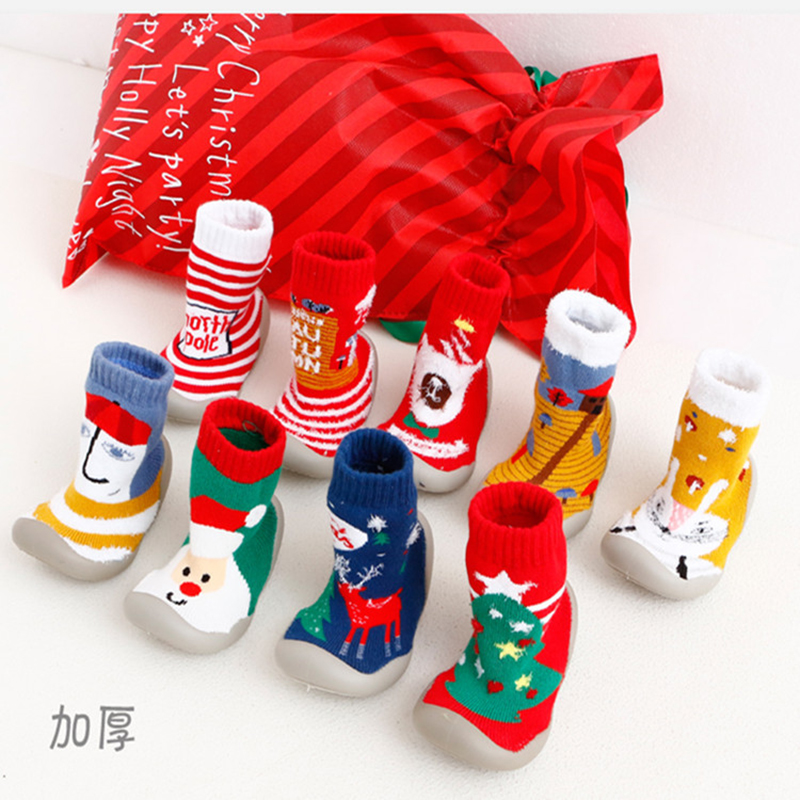 Christmas Shoe.Us 12 46 10 Off Winter Home Slippers Children Christmas Indoor Socks Shoes Kids Christmas Cotton Baby Toddler Boy Socks Girl Shoes Floor Shoes On