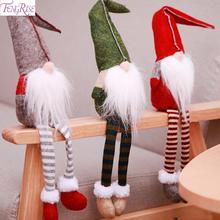 2019 Merry Christmas Elf Decor Cute Sitting Long-legged Doll New Year Gift Christmas Decor For Home Navidad Natal Noel Cristmas цены