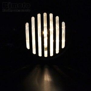 """Image 5 - Headl luz para harley 6.5 """"lâmpada de projeção do farol da motocicleta para honda yamaha kawasaki chopper bobber touring cafe racer"""