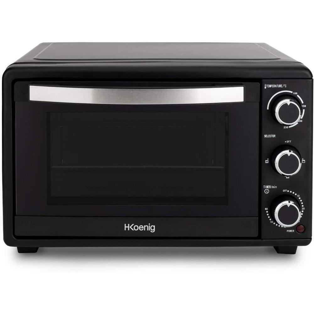 H. Koenig FO25 Oven Ellectric Tabletop, Oven Conveccion Vanity Top, Capacity 25 Liter, 1500 W, 4 Modes, Up 230 °C, 60 Min