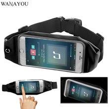 WANAYOU su geçirmez koşu bel kemeri çantası, Unisex 5.5 inç telefon koşu kılıfı, şeffaf pencere yansıtıcı spor bel çantası