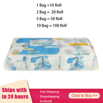1 Bag 10 Roll Toilet Paper Toilet Roll Tissue Roll Pack Of 10 3Ply Paper Towel Tissue Household Toilet Paper Toilet Tissue Paper 1
