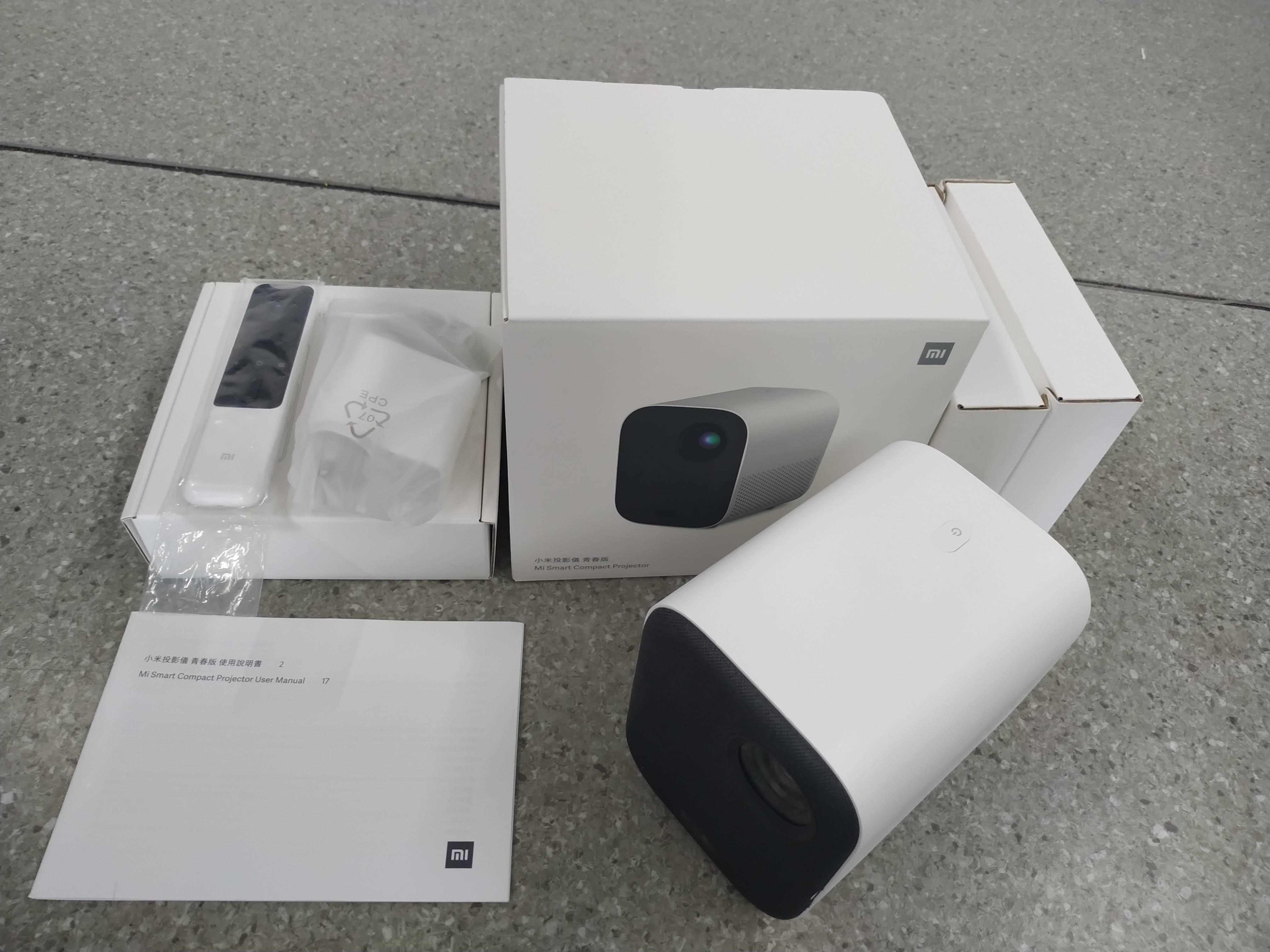 "Nova versão global xiaomi mijia projetor mini 60 - 120 ""hd completo 1080p dlp 500ans dolby áudio android 9 tv google assistente-5"