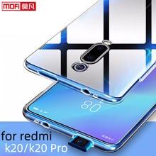 Funda transparente para Xiaomi Redmi K20 Pro carcasa de silicona ultrafina, Parte posterior transparente, 6,39