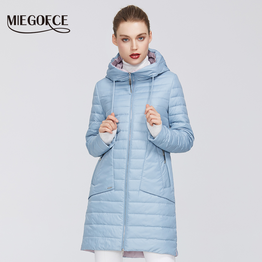 MIEGOFCE 2020 New Collection Women's Jacket Coat Warm Windproof Spring Jacket With Resistant Collar With Hood Zipper Pockets