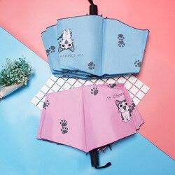 Parasol Kitty winylu składane Parasol japoński styl Hipster ochrona przed promieniowaniem UV Parasol generacji tłuszczu na
