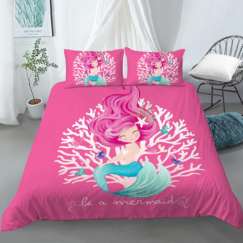 Sitting Mermaid Theme Bedding Set  7