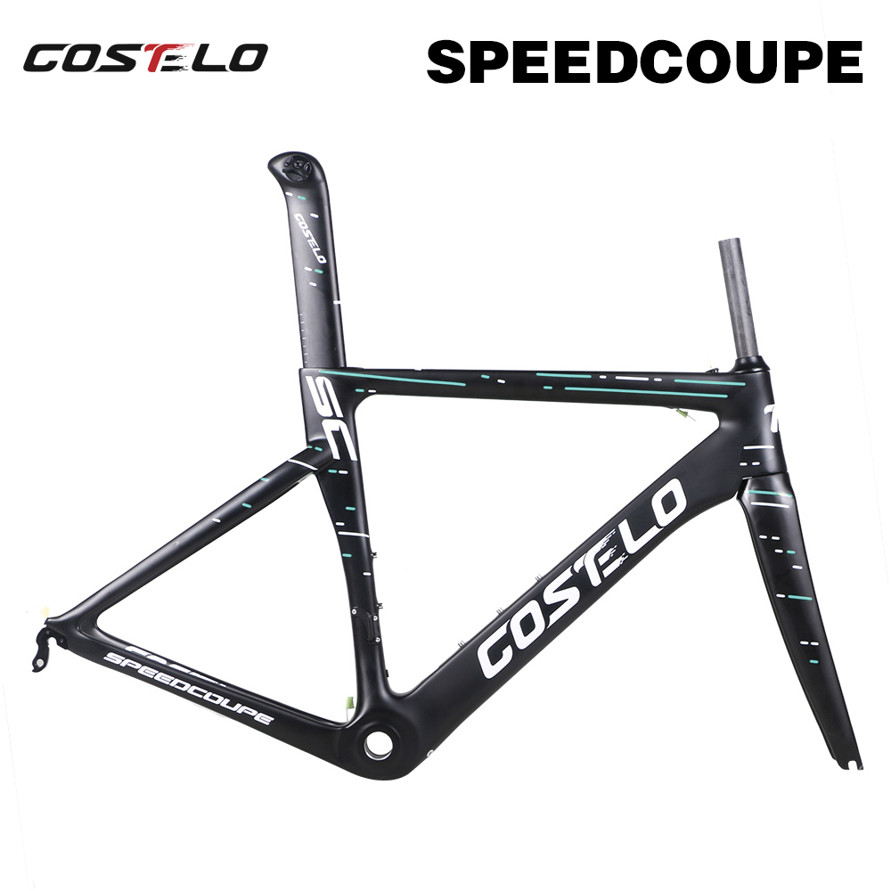 Costelo Speedcoupe Sky Color 2.0 Carbon Road Bike Frameset 2018 Costelo Bicycle Bicicleta Frame Carbon Fiber Bicycle Frameset