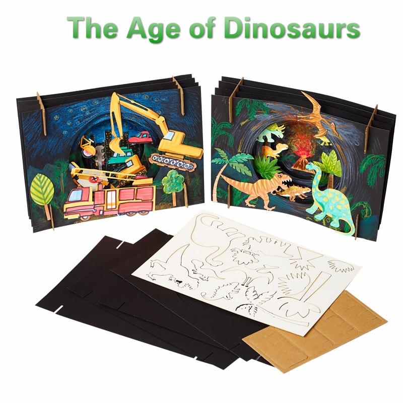 Creative Advanced Educational Toys For Children DIY Cartoon Animal 3D Dinosaur Art And Craft Toys For Kids Girl Birthday Gift