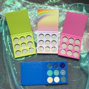 Сделай Сам палитра теней под заказ Частная этикетка пустой Макияж Палитра Выберите цвета матовые мерцающие блестящие тени для век 15 цветов
